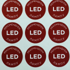 Печать наклеек для LED