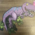 Печать на платике Динозавр