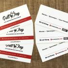 Печать визиток для Grill&Joy